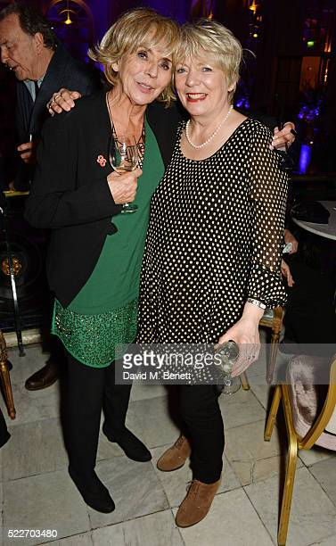Sue Johnston and Alison Steadman attend the press night after party for 'Funny Girl' at The Waldorf Hilton Hotel on April 20 2016 in London England
