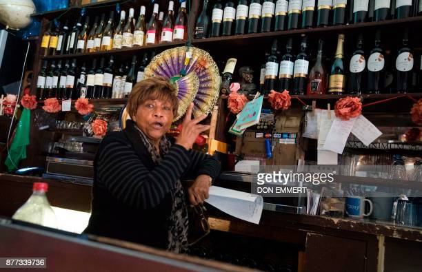 Sue Kelly works behind the bar at Paris Blues jazz club in Harlem on November 17 2017 in New York In 1969 Samuel Hargress bought his Harlem jazz bar...