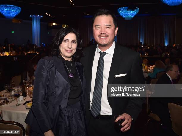 Sue Kroll and Dr Jay Lee attend the Venice Family Clinic's 36th Annual Silver Circle Gal at The Beverly Hilton Hotel on March 19 2018 in Beverly...