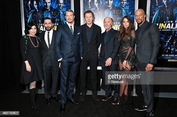 Sue Kroll director Jaume ColletSerra Joel Kinnaman Liam Neeson Ed Harris Genesis Rodriguez and Common attend the Run All Night New York Premiere at...