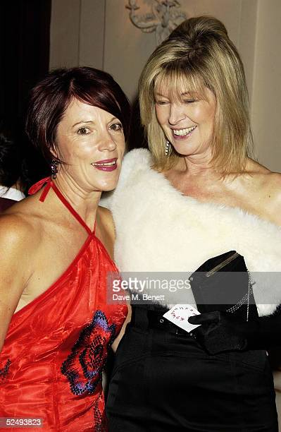 Sue Lloyd-Roberts and Julia Somerville at the Royal Opera House's Floral Hall for an evening for Tibet. Guests were entertained by singers Yvonne...