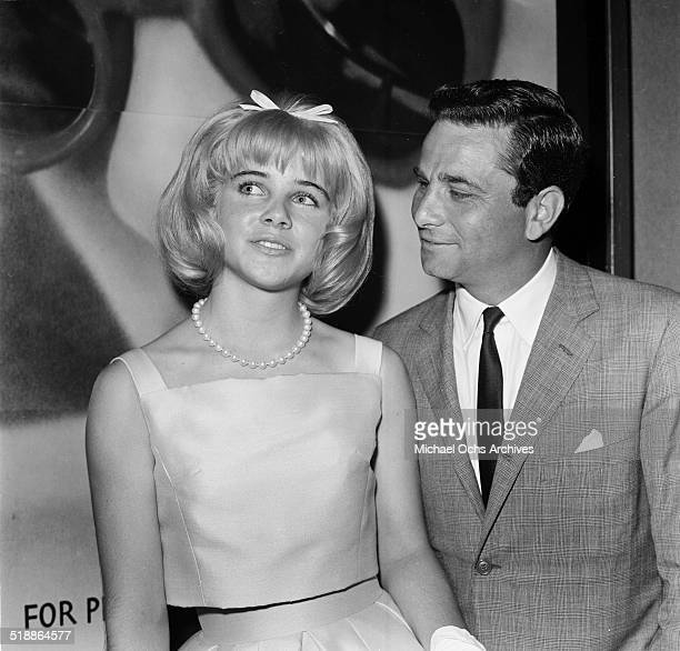 Sue Lyon and Peter Falk attends the movie premiere of Lolita in Los AngelesCA