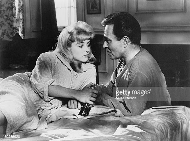 Sue Lyon as Dolores 'Lolita' Haze and James Mason as Humbert Humbert in a scene from 'Lolita' directed by Stanley Kubrick 1962
