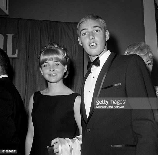 Sue Lyon attends a party with a friend in Los AngelesCA