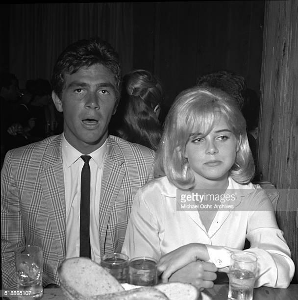 Sue Lyon attends a party with Hampton Fancher in Los AngelesCA