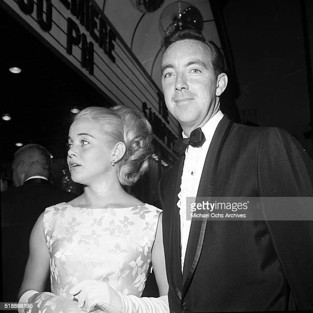 Sue Lyon attends a party with Jack Haley Jr in Los AngelesCA