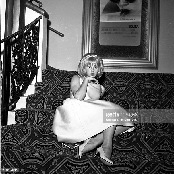 Sue Lyon attends the movie premiere of Lolita in Los AngelesCA