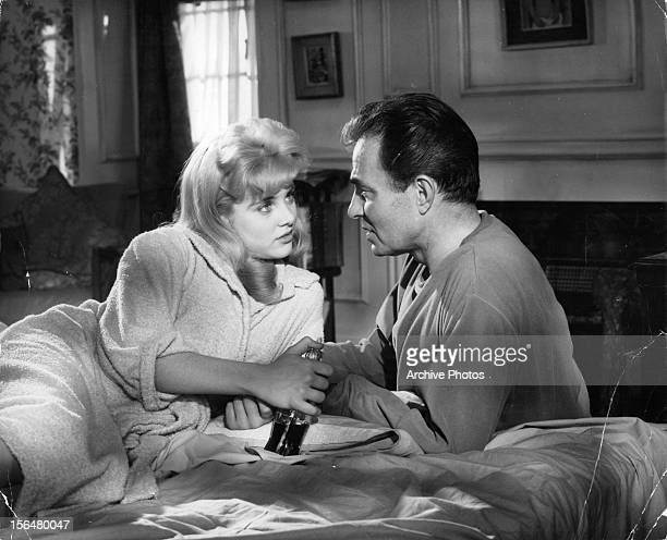 Sue Lyon seduces James Mason in a scene from the film 'Lolita' 1962