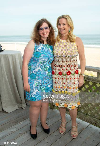 Sue Moss and Nancy Chemtob attend the David Lynch Foundation 15th Anniversary at the Bridgehampton Tennis and Surf Club on July 26 2019 in...