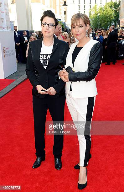 Sue Perkins and Mel Giedroyc attend the Arqiva British Academy Television Awards at Theatre Royal on May 18 2014 in London England