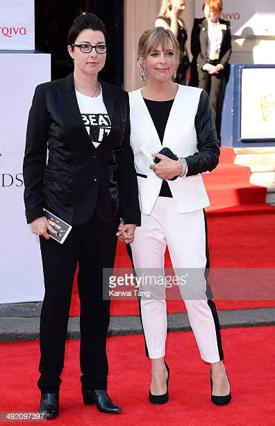 Sue Perkins and Mel Giedroyc attend the Arqiva British Academy Television Awards held at the Theatre Royal on May 18 2014 in London England