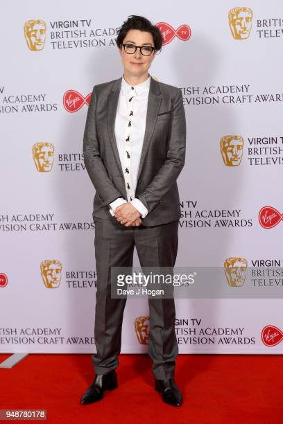 Sue Perkins attends the Virgin TV BAFTA nominees' party at Mondrian London on April 19 2018 in London England