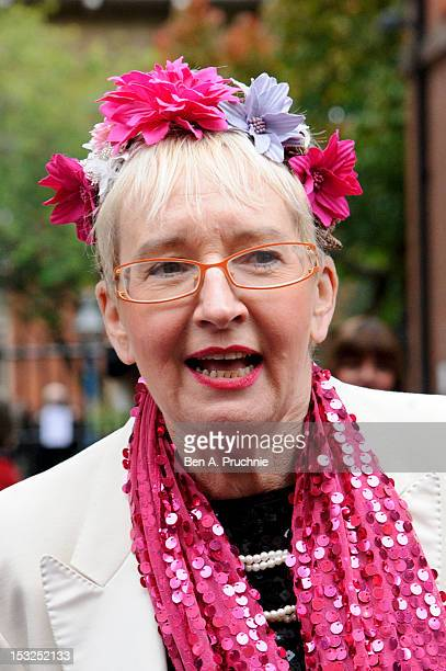 Sue Pollard attends the memorial service for Victor Spinetti at St Paul's Church on October 2 2012 in London England