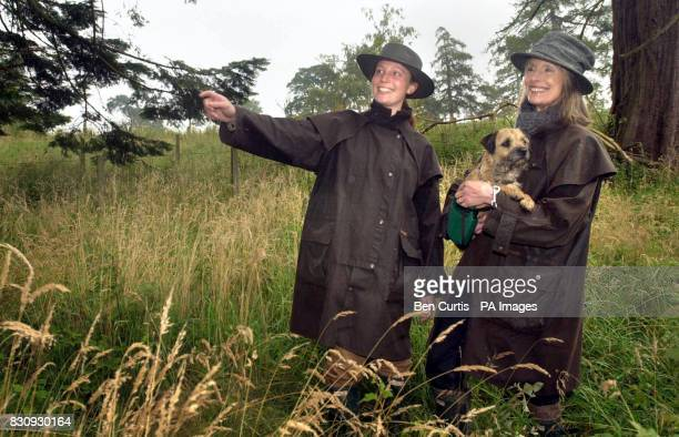 Sue StirlingAird with her dog Tangle and her daughter Corrie take a walk through their estate of Kippenross in Dunblane on the lookout for a pig...