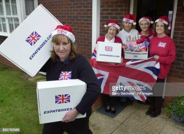 Sue Ubl with from Jean Pippa Penny and Ruth from Expat deliveries at Tiverton Devon Expatriates worldwide are getting Christmas in a box thanks to a...