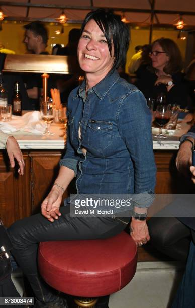 Sue Webster attends a preopening dinner hosted by Kate Bryan at Zobler's Delicatessen at The Ned London on April 25 2017 in London England