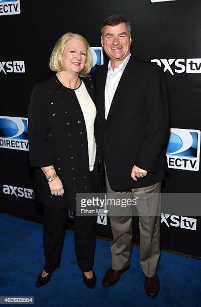 Sue White and DirecTV Chairman President CEO Michael White attend DirecTV Super Saturday Night hosted by Mark Cuban's AXS TV and Pro Football Hall of...