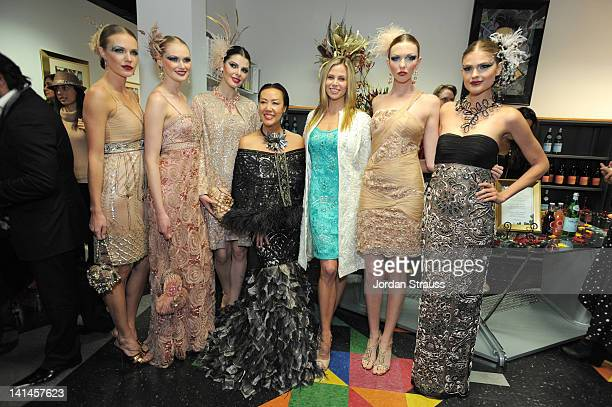 Sue Wong and Brooke Burns attend the Sue Wong Presents 'Autumn Sonata' Fall 2012 Fashion Show at Sue Wong Atelier on March 16 2012 in Los Angeles...