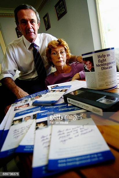 SueAnne Sanig and husband Michael of Berkeley Vale with the brochures and educational Videos about Meningococcal that they are releasing in Sydney 15...