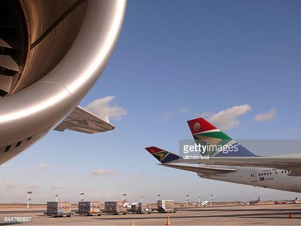 Suedafrika Boeing 747400 der South African Airways im Flughafen in Kapstadt