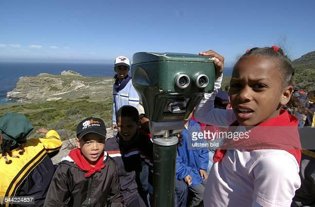 Kinder auf einem Schulausflug am Kap der GutenHoffnung