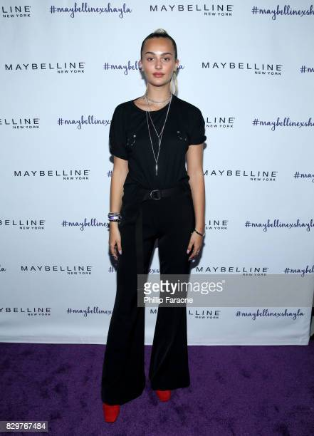 Suede Brooks attends Maybelline New York Celebrates First Ever Cobranded Product Collection With Beauty Influencer Shayla Mitchell at 1OAK on August...