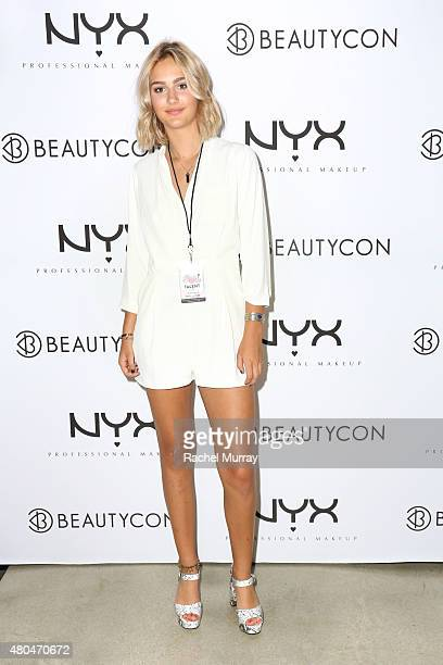 Suede Brooks attends the NYX Cosmetics VIP lounge during BeautyCon LA at The Reef on July 11 2015 in Los Angeles California