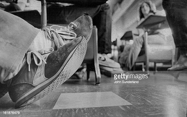 JAN 22 1980 JAN 27 1980 DEC 16 1981 FEB 17 1982 Suede or nylon Nike running shoes are THE shoes for Drake Junior High's jock boys Canvas basketball...