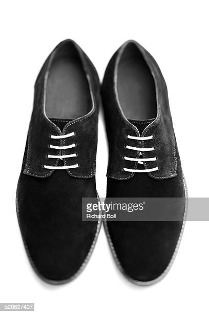suede shoes on a white background - suede shoe stock pictures, royalty-free photos & images