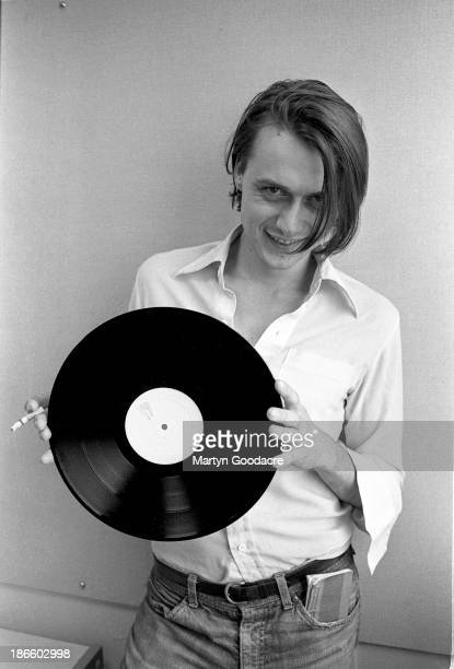 Suede singer Brett Anderson poses for a portrait at the NME offices in London United Kingdom 1993