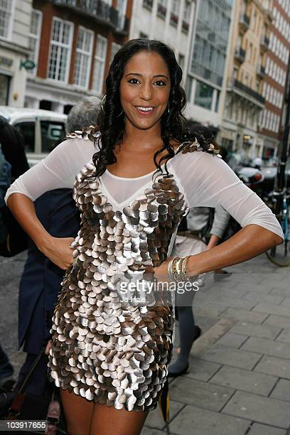 SuElise Nash of MisTeeq arrives at the Mobo Awards outside the Mayfair Hotel on September 8 2010 in London England