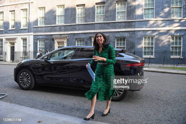 Suella Braverman UK attorney general arrives for a meeting of cabinet ministers in London UK on Tuesday Sept 15 2020 UK Prime Minister Boris...