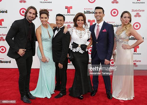 Suelta la Sopa arrives at the 2014 Billboard Latin Music Awards at Bank United Center on April 24 2014 in Miami Florida