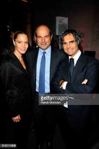 Suelyn Farel, Mossimo Ferragamo and Julian Farel attend Setai New York Grand Opening at Setai NYC on November 5, 2010 in New York City.