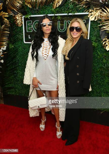 Suelyn Medeiros and Hofit Golan attend Debbie Durkin's EcoLuxe Lounge Honoring Film Award Nominees 2020 at The Beverly Hilton Hotel on February 07...