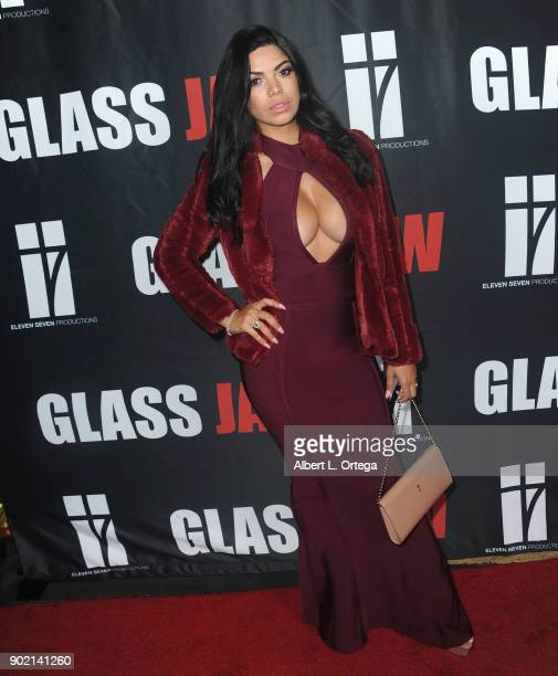 Suelyn Medeiros arrives for the premiere of Glass Jaw held at Universal Studios Hollywood on November 9 2017 in Universal City California