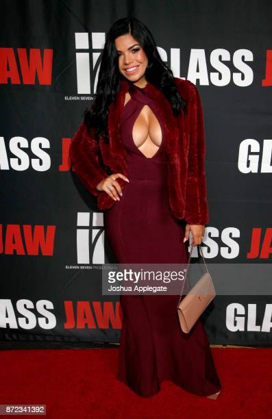 Suelyn Medeiros at the premiere of Glass Jaw at Universal Studios Hollywood on November 9 2017 in Universal City California