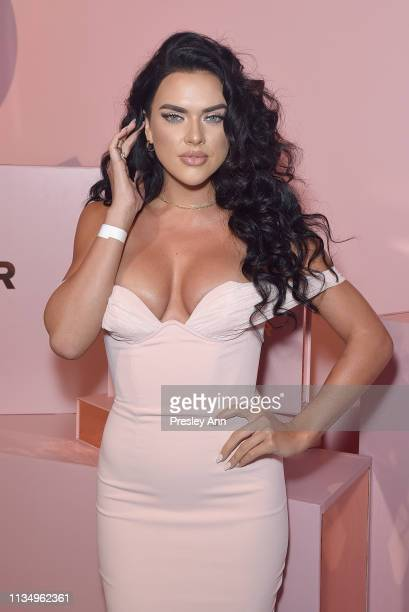 Suelyn Medeiros attends Patrick Ta Beauty Launch on April 4 2019 in Los Angeles California