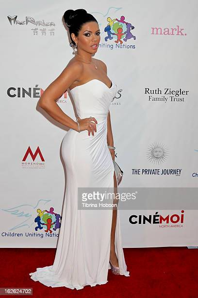 SueLyn Medeiros attends the 14th annual Children Uniting Nations awards on February 24 2013 in Beverly Hills California