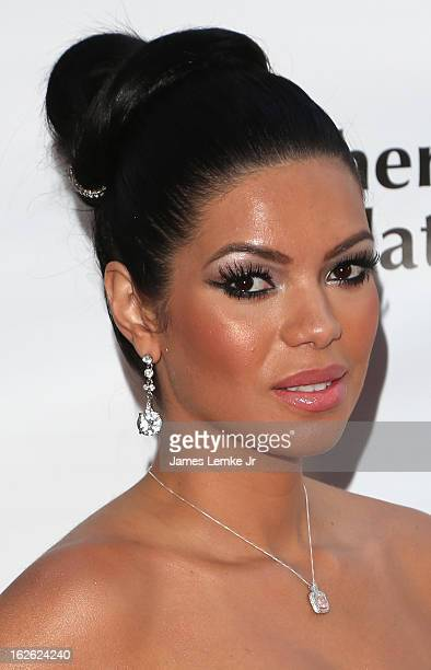 Suelyn Medeiros attends the 14th Annual Children Uniting Nations Viewing Dinner And After Party on February 24 2013 in Beverly Hills California
