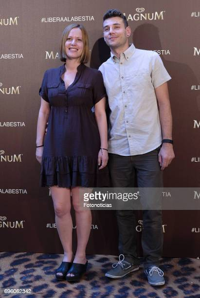 Sueno de Morfeo members attends the Magnum new campaign presentation party at the Palacete de Fortuny on June 14 2017 in Madrid Spain