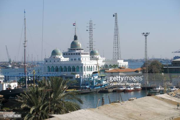 suez canal authority (sca) building, port said, egypt - suez canal stock pictures, royalty-free photos & images