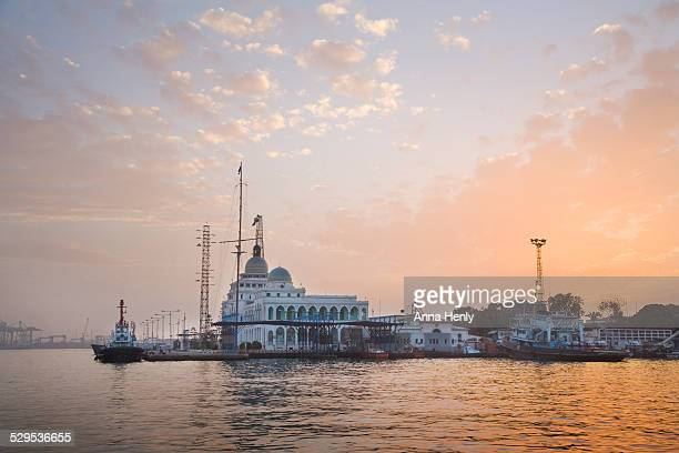 suez canal house building in port said - suez canal stock pictures, royalty-free photos & images