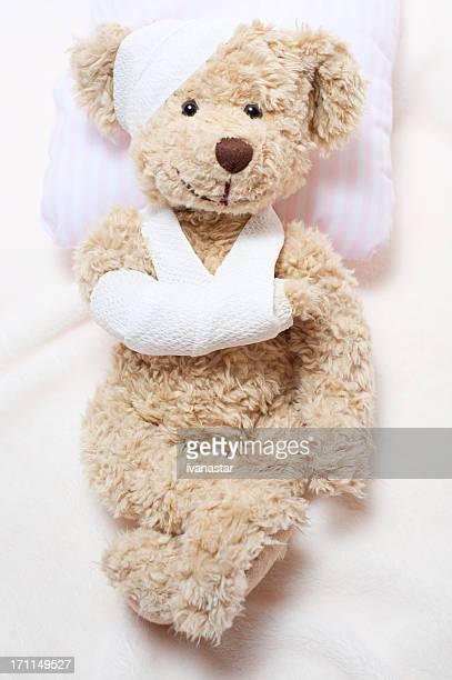 Patienten krank süßen Teddybär in Hospital