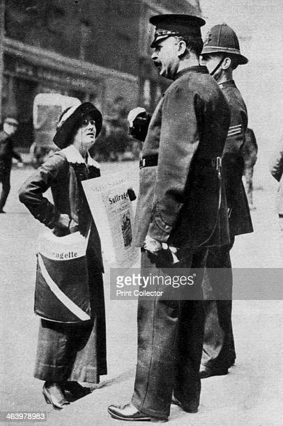 A suffragette confronting two policemen 1913 The campaign to secure the vote for women in Britain reached its peak in 1912 early in George V's reign...