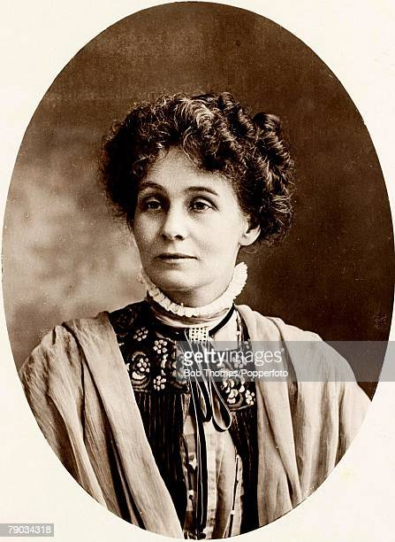 circa 1900 Mrs Emmeline Pankhurst who was a leader in the campaign for votes for women