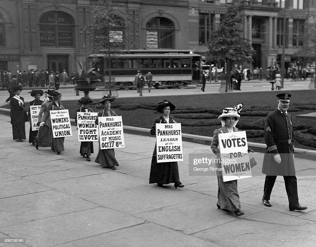 Suffragette Parade in Brooklyn : News Photo