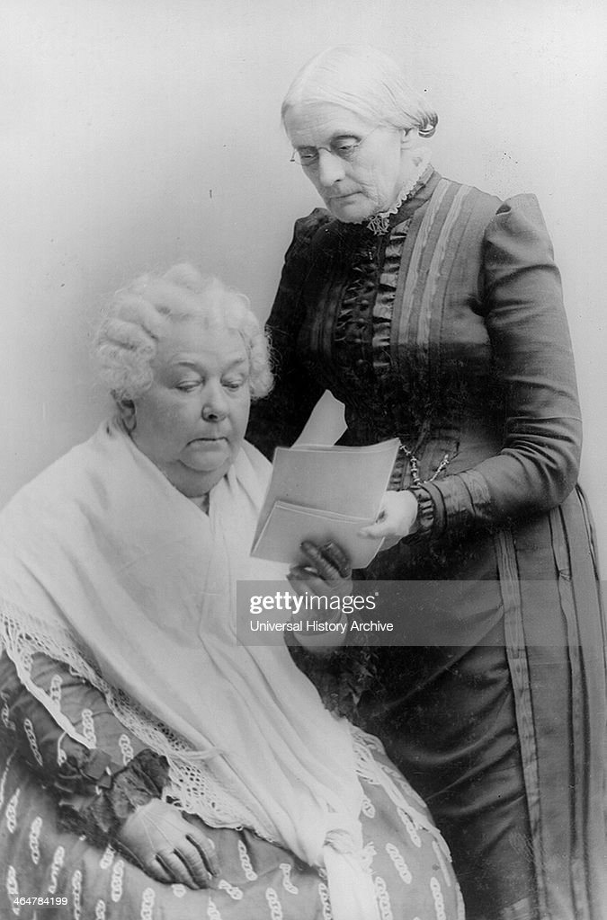 Suffragists Elizabeth Stanton, Susan B. Anthony
