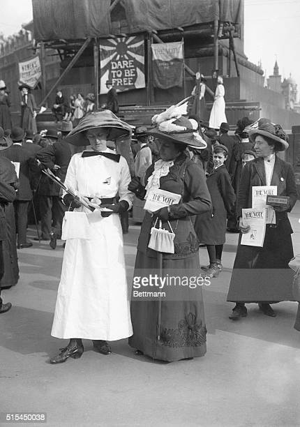 Suffragists in England holding The Vote Photograph ca early 1900's