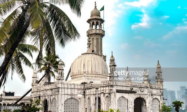 sufi shrine of pir haji ali shah bukhari known as haji ali dargah. a typical indo-islamic mosque. - shrine stock pictures, royalty-free photos & images